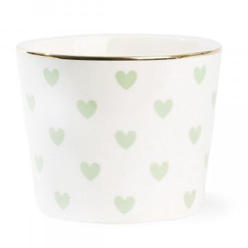Bol de cerámica Corazones Verde Menta