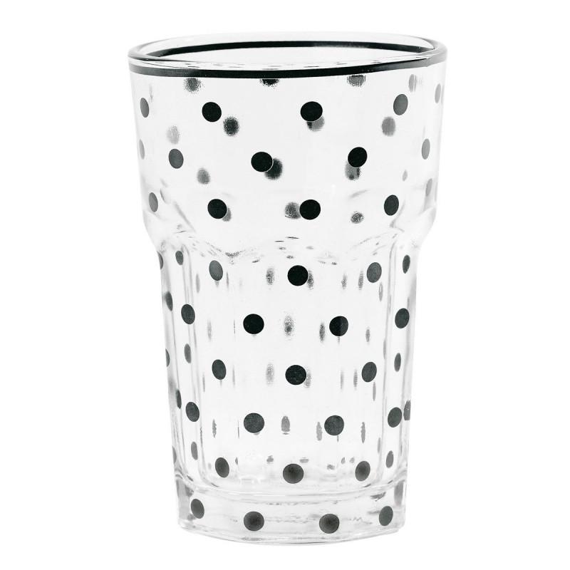 Vaso de Cristal Lunares Negros