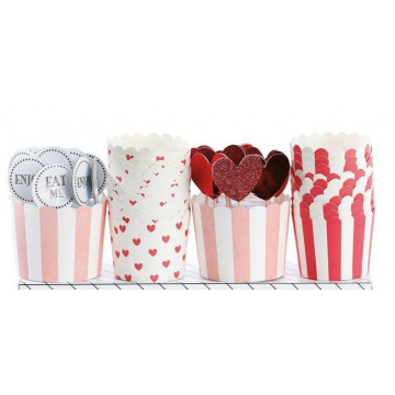 Set cupcakes + toppers Eat Me Valentin