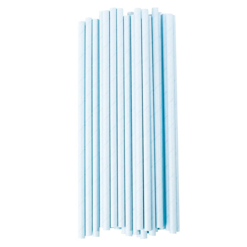 Pajitas de papel Azul Pastel