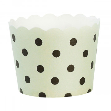 Capsulas cupcakes Verde Menta Lunares Negros