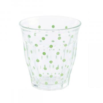 Vaso de Cristal Lunares Verde Menta