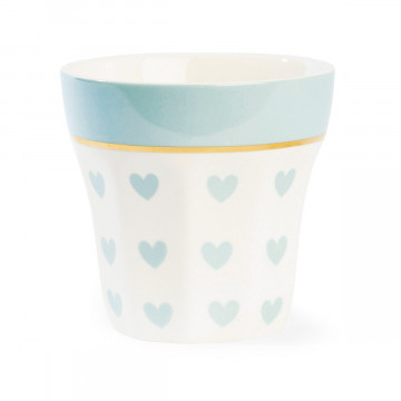 Tazón de leche Corazones Azul Pastel