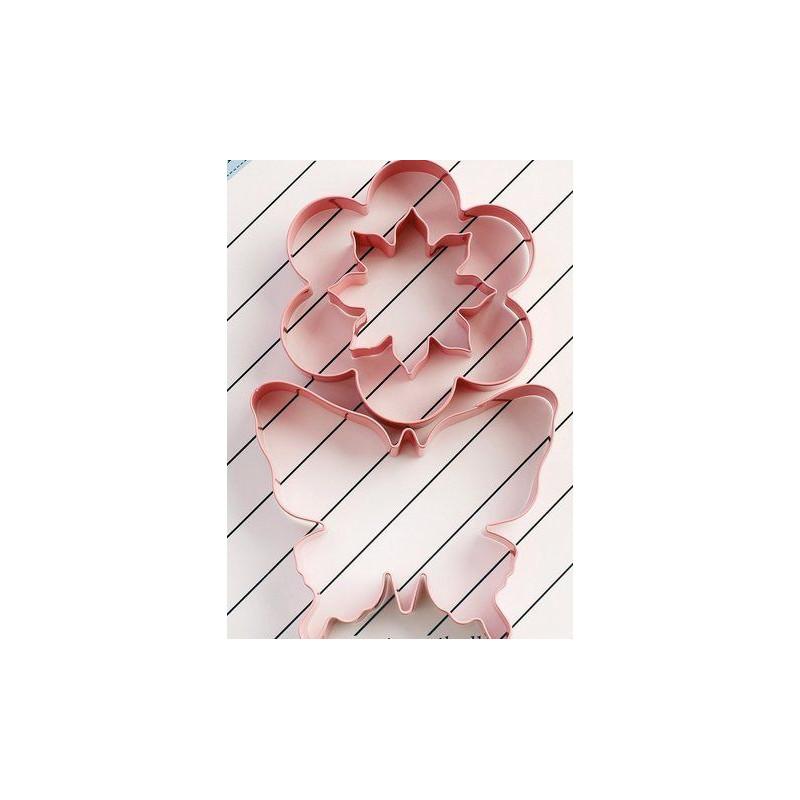 Cortante pack 3 cortantes: Flor 8 petalos, Flor sencilla y Mariposa