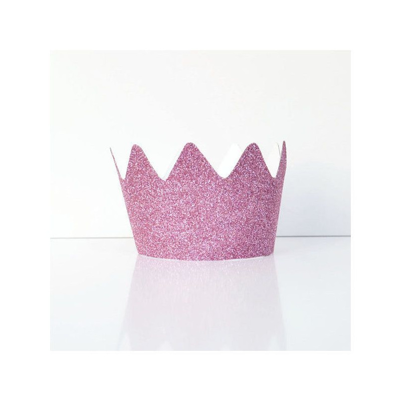 Coronas Princesa Glitter Rosa
