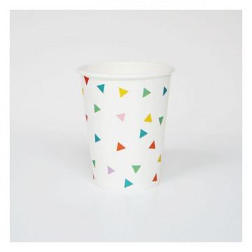 Vasos Fiesta Triángulos Colores