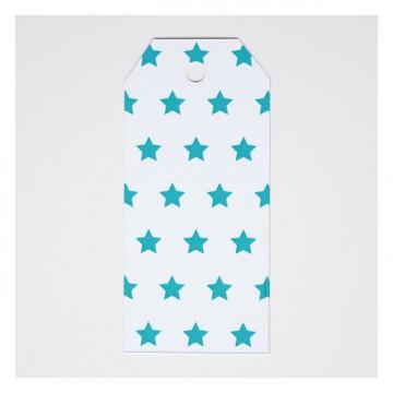Etiquetas Estrellas Turquesa