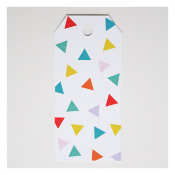 Etiquetas Triángulos Colores
