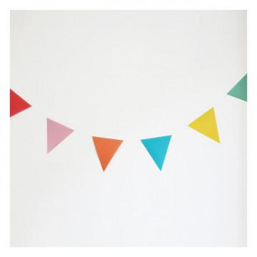 Banderolas Guirnaldas de Triángulos Colores