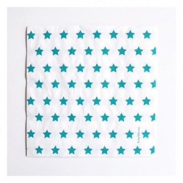 Servilletas de papel Estrellas Turquesa