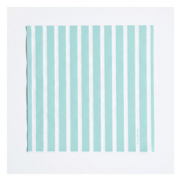 Servilletas de papel Rayas Verde Menta