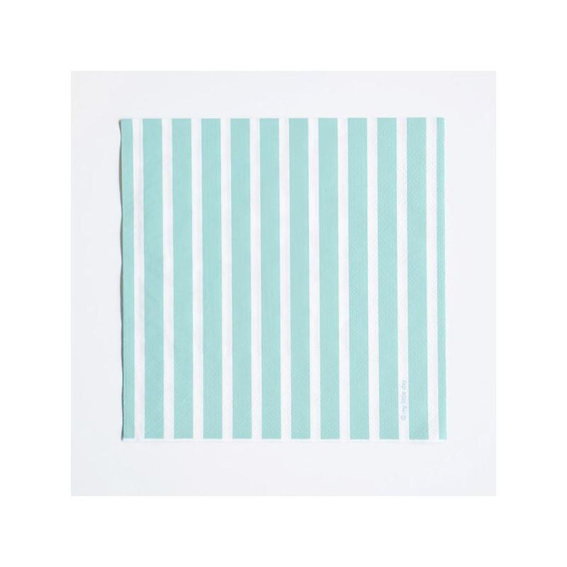 Servilletas de papel rayas verde menta - Papel de rayas ...