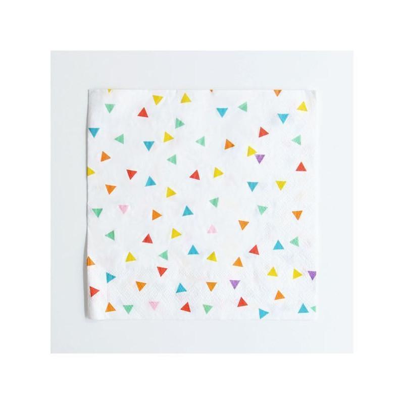 Servilletas de papel Triángulos Colores