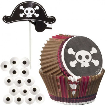 Set cupcakes + toppers Pirata Wilton