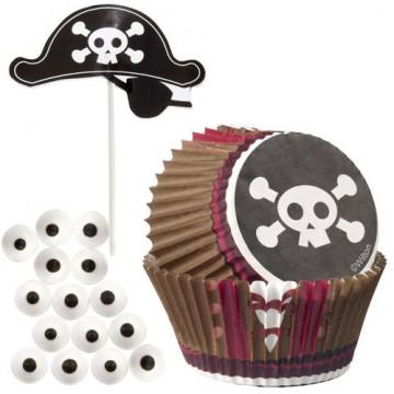 Set cupcakes + toppers Pirata Wilton