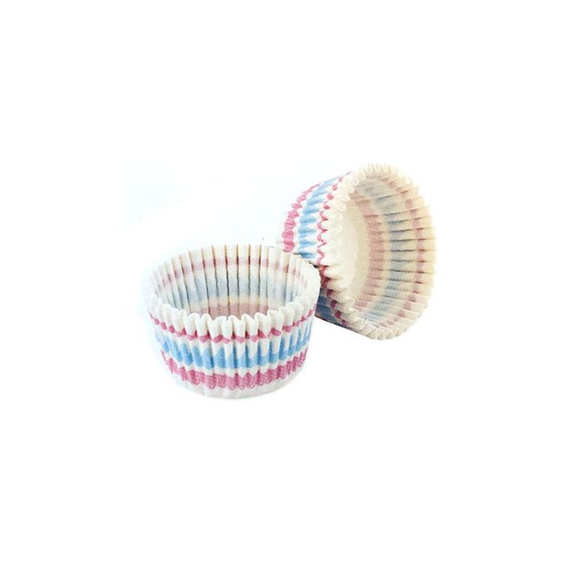Capsulas cupcakes Rayas Pasteles Tala