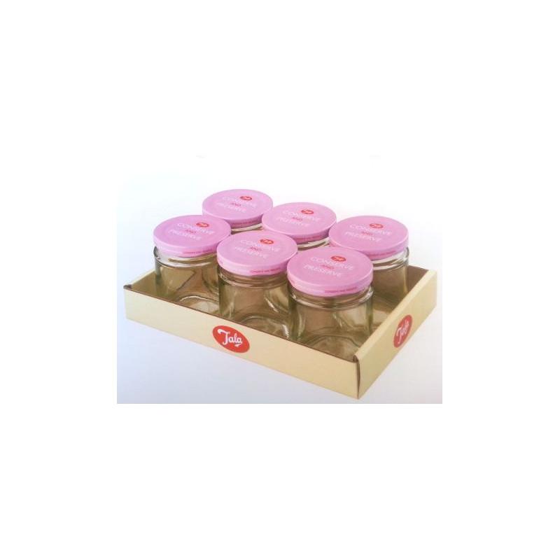 Bote de cristal con tapa Retro Rosa 190 ml Tala