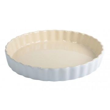 Fuente redonda de cerámica Blanca
