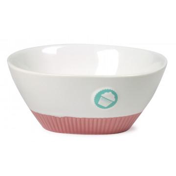 Bol de cerámica grande Logo y base Rosa Cupcake Lily´s Cupcakes