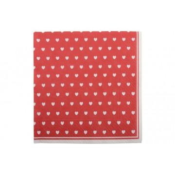 Servilleta de papel Rojo Corazones