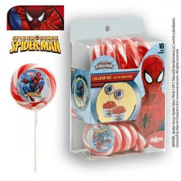 Pack 10 piruletas de caramelo: Spider Man