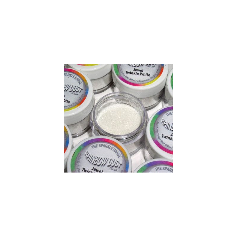 Purpurina fina Decorative Jewel Twinkle White Rainbow Dust