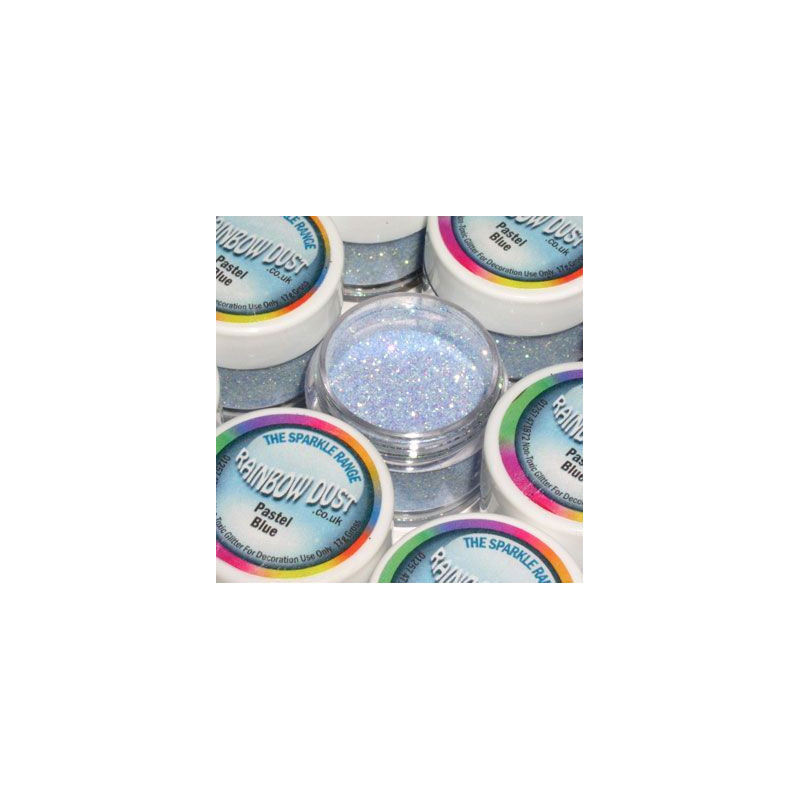 Purpurina fina Decorative Sparkles Pastel Blue Rainbow Dust