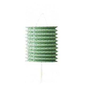 Farol de papel 15 cm Lunares Verde Menta