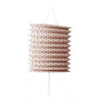 Farol de papel 15 cm Lunares Rosa Pastel