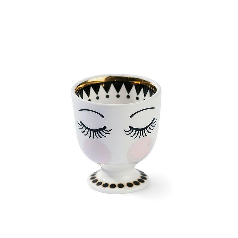 Huevera cerámica Ojos