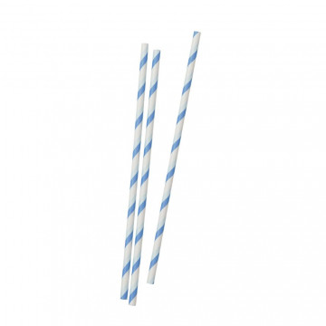 Pajitas de papel Azul Dos Tonos