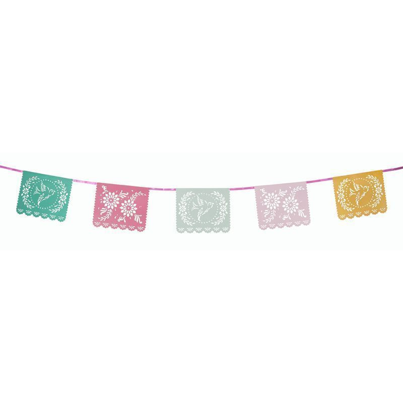 Guirnalda Banderola de papel Floral Party