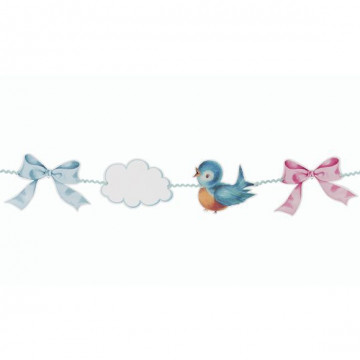 Guirnalda Banderola de papel Baby Shower