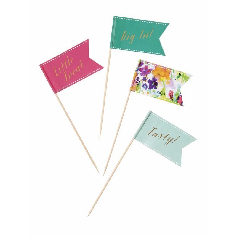 Pack de 24 toppers Floral Party