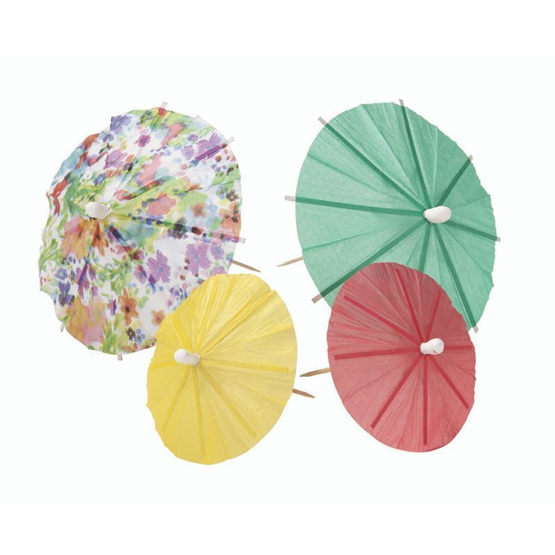Pack de 24 sombrilla toppers Floral Party