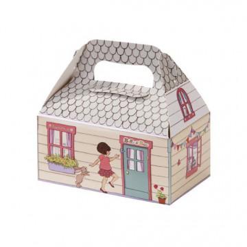 Pack 4 cajas decoradas + etiquetas Belle & boo