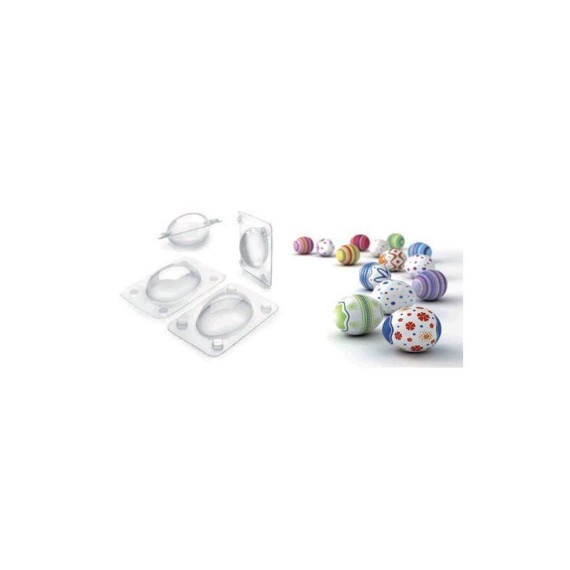 Pack 3 moldes de bombones Huevo Ibili