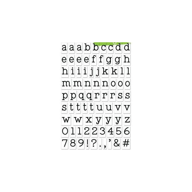 Set sellos transparentes Alfabeto Clarks