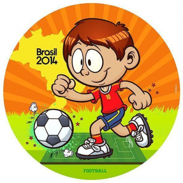 Oblea comestible Mundial Brasil 2014-1