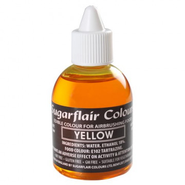 Colorante para aerógrafo amarillo 60ml Sugarflair