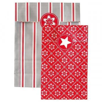 Kit 12 bolsas y pegatinas Alba Red Green Gate