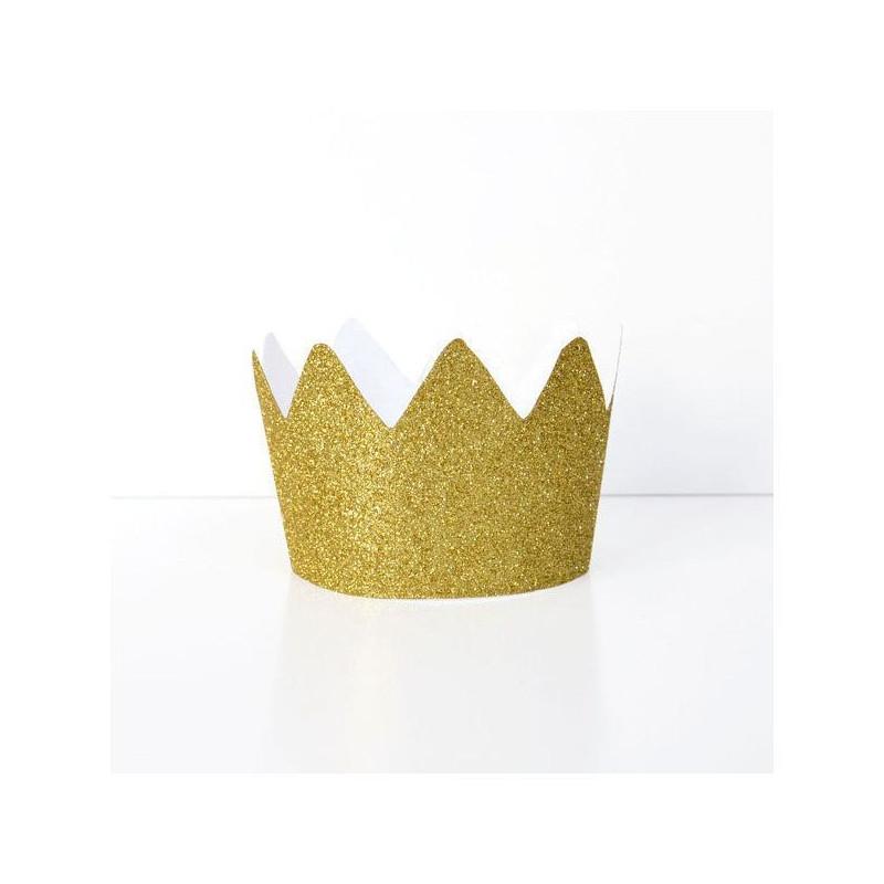 Coronas Princesa Glitter Oro
