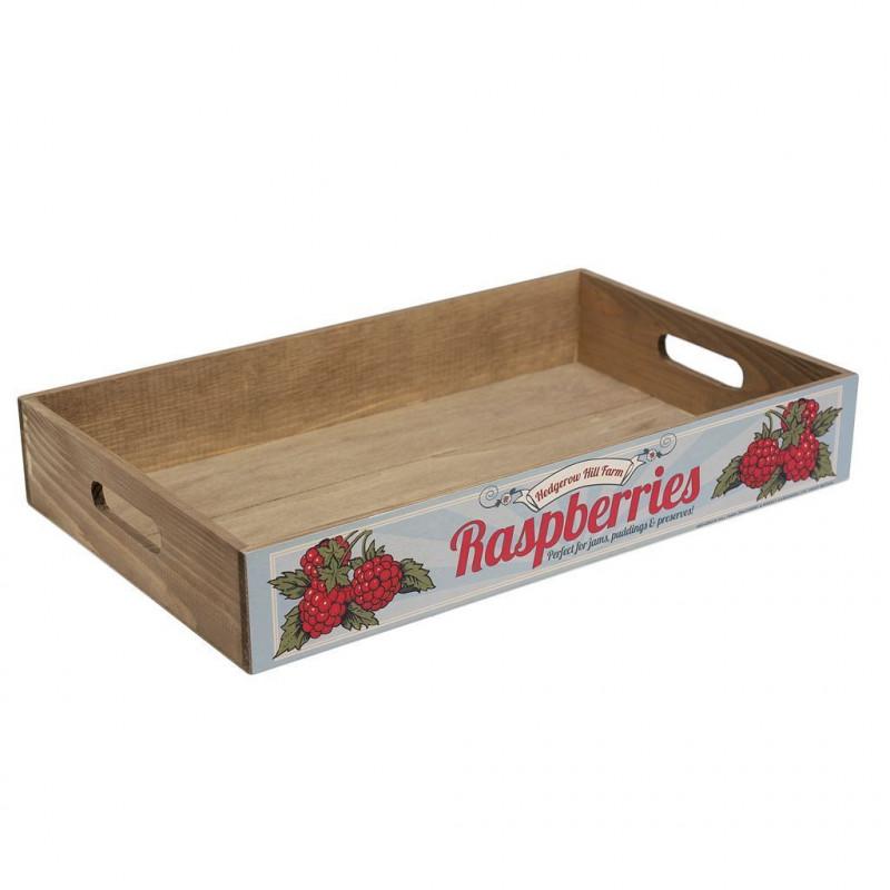 Caja decorativa madera Frambuesas