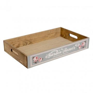 Caja decorativa madera Rosas