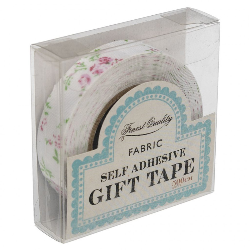 Fabric Tape Floral Rosa