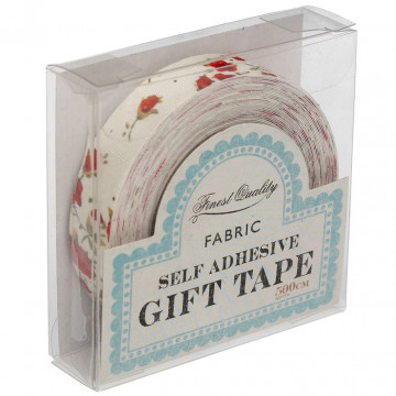 Fabric Tape Floral Rojo