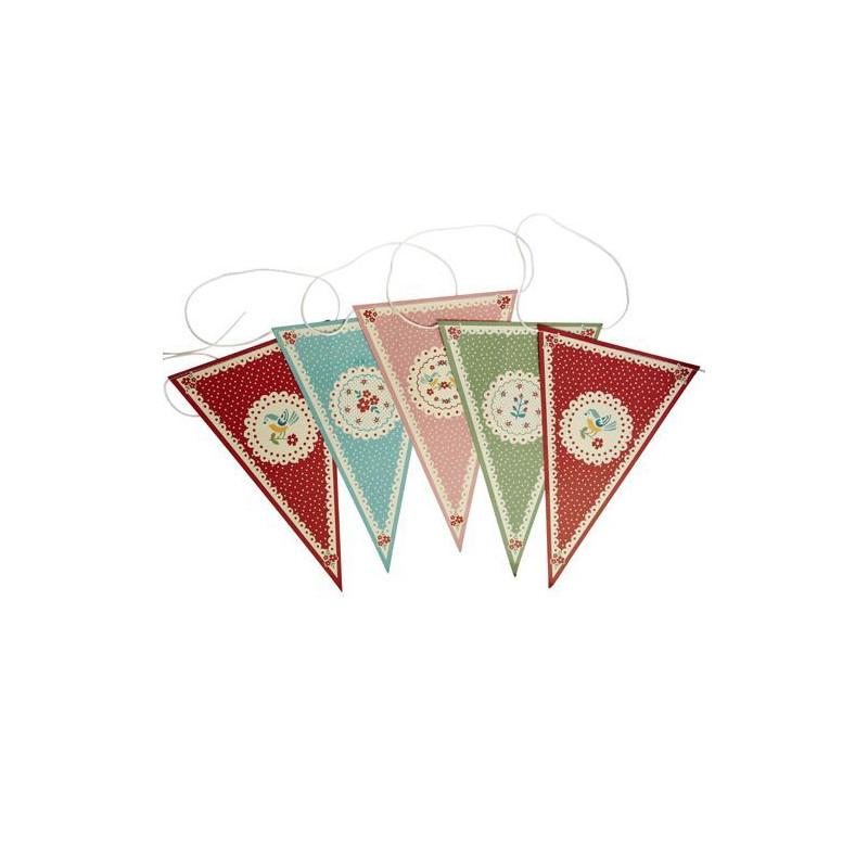 Banderolas Guirnalda de Papel Pajaros y Flores