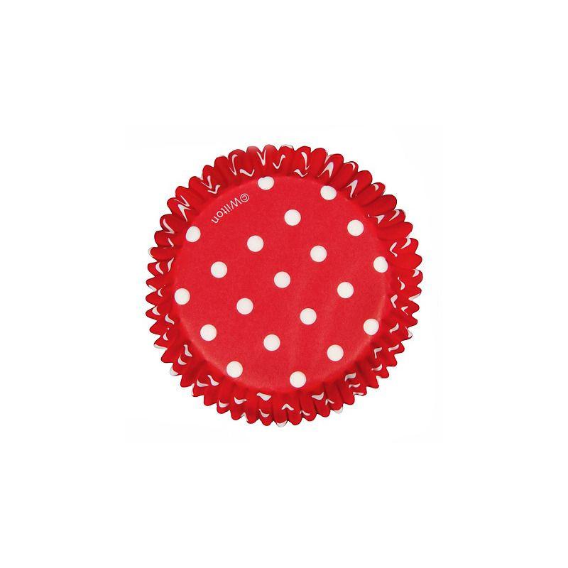 Capsulas cupcakes Dots Red Wilton