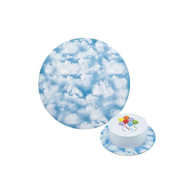 Platos redondos para tartas Nubes 30.4 cm. Pack 3 unidades Wilton