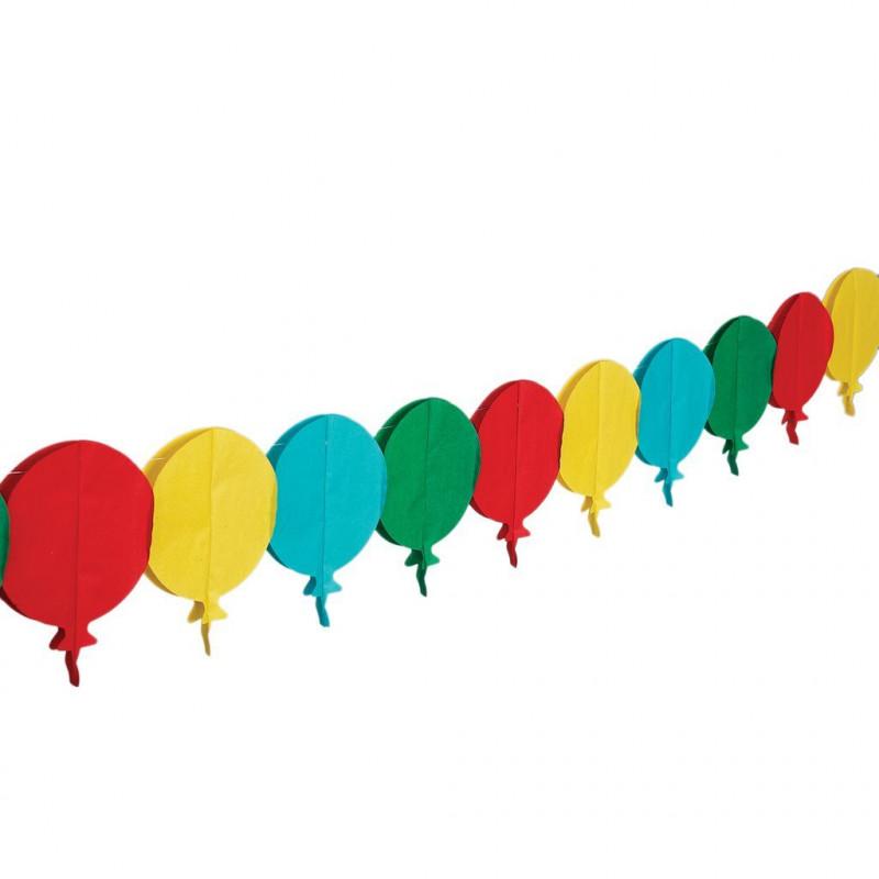Banderolas Guirnalda de Papel Globos Colores